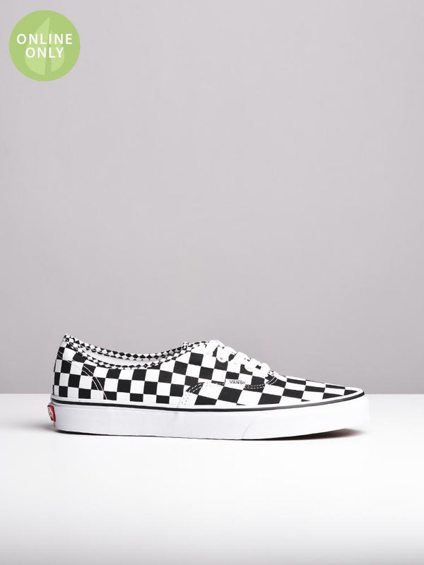 MENS AUTHENTIC MIX CHECKER CANVAS SHOES- CLEARANCE