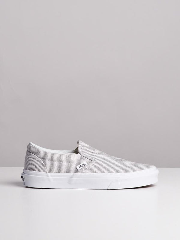 WOMENS CL SLIP ON JERSEY GREY CANVAS SHOES- CLEARANCE