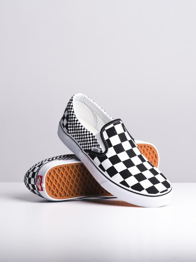 MENS CLASSIC SLIP ON MIX CHECKER CANVAS SHOES