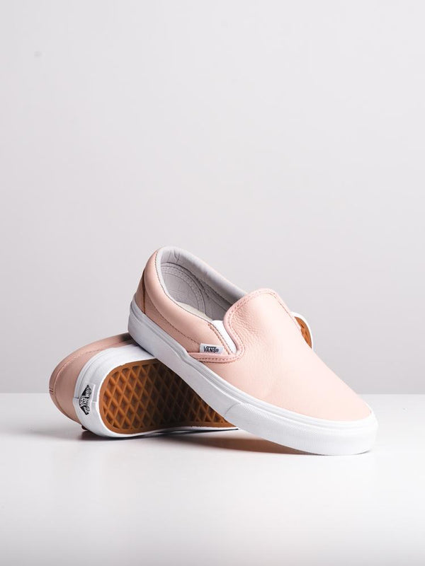 WOMENS CLASSIC SLIP ON LEATHER SAND CANVAS SHOES- CLEARANCE