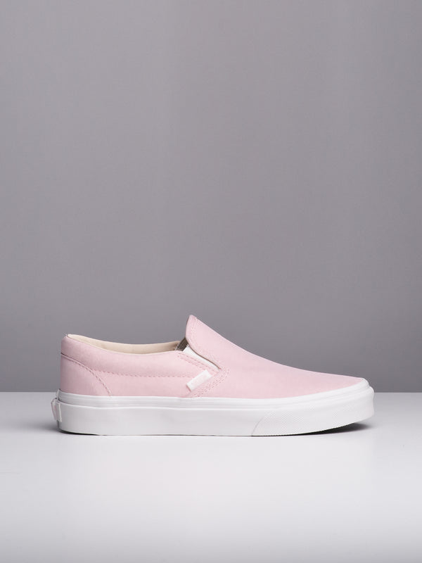 WOMENS CLASSIC SLIP ON - PINK/WHITE