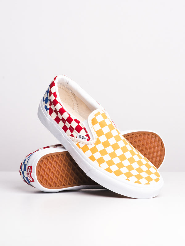 MENS CLASSIC SLIP ON - MULTI CHECK