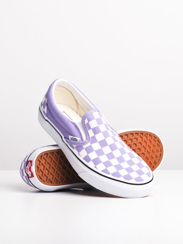 WOMENS CL SLIP ON - CHECKER VIOLET