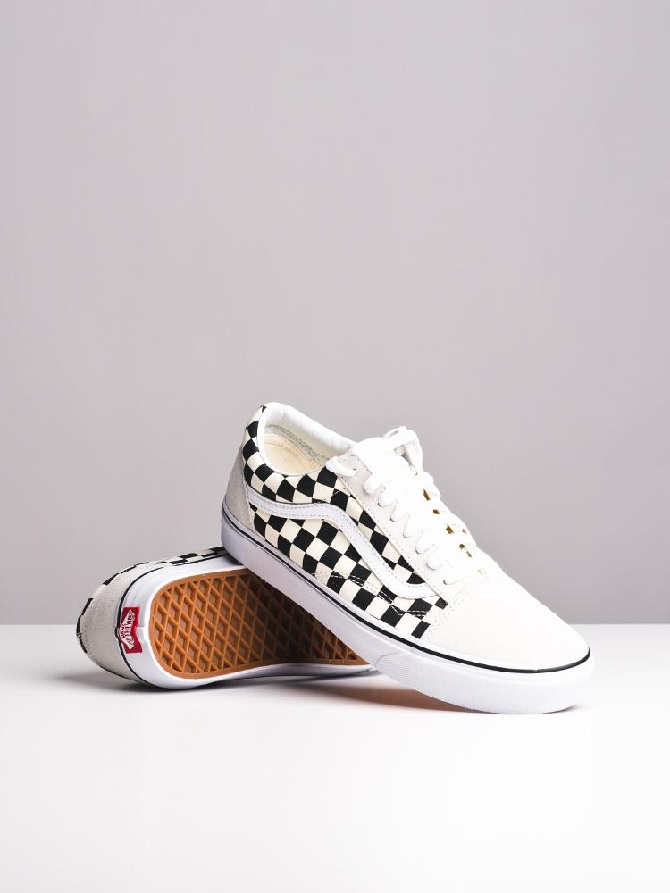 MENS OLD SKOOL CHECKERBOARD CANVAS SHOES- CLEARANCE