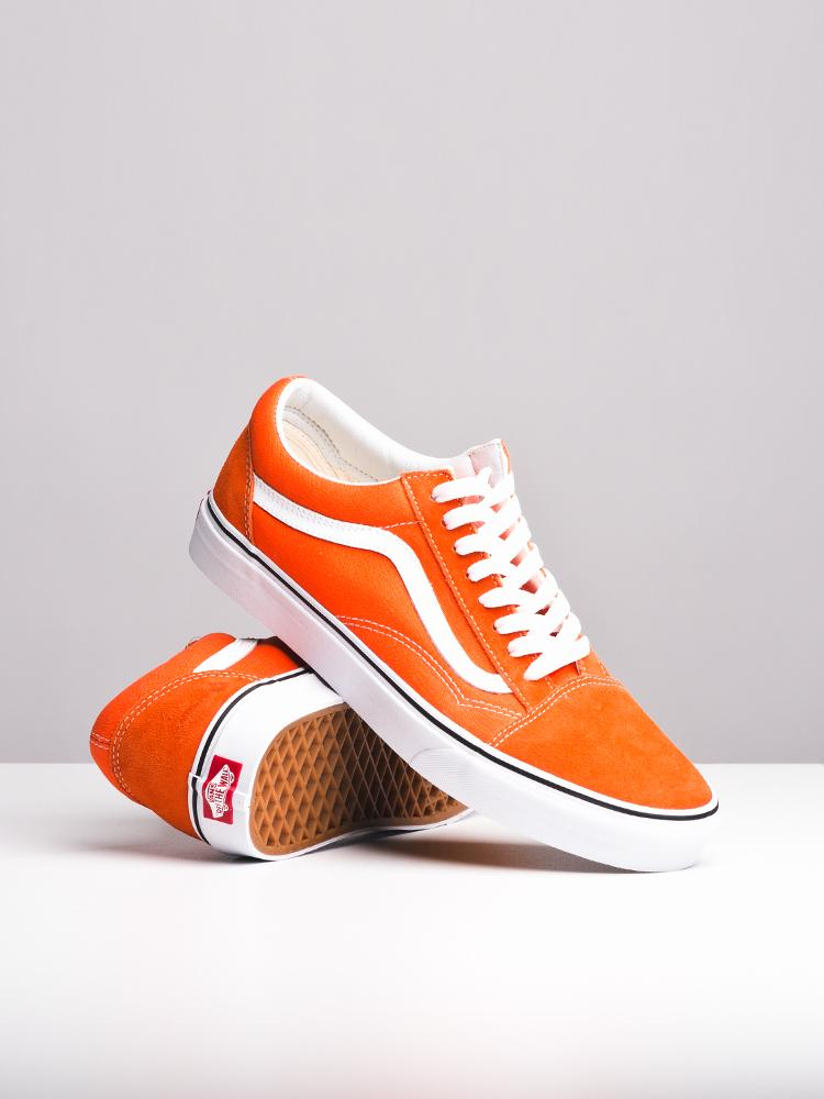 MENS OLD SKOOL FLAME FLAME/WHITE CANVAS SHOES- CLEARANCE