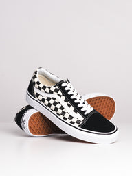 MENS OLD SKOOL PRIMARY CHECKER CANVAS SHOES