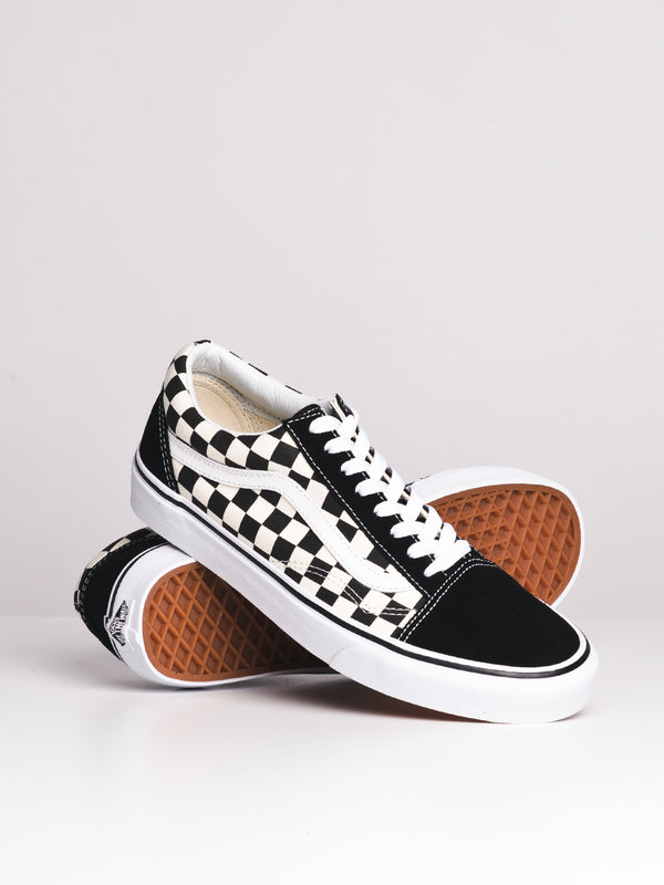 MENS OLD SKOOL PRIMARY CHECKER CANVAS SHOES SNEAKER