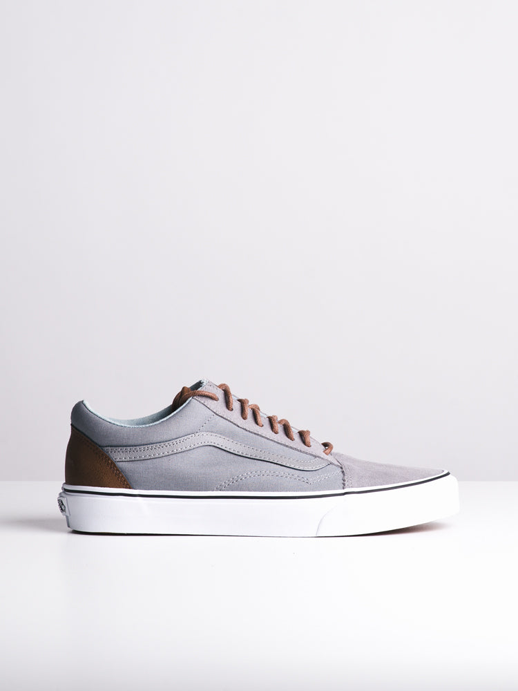 MENS OLD SKOOL FROST GREY/ACID CANVAS SHOES