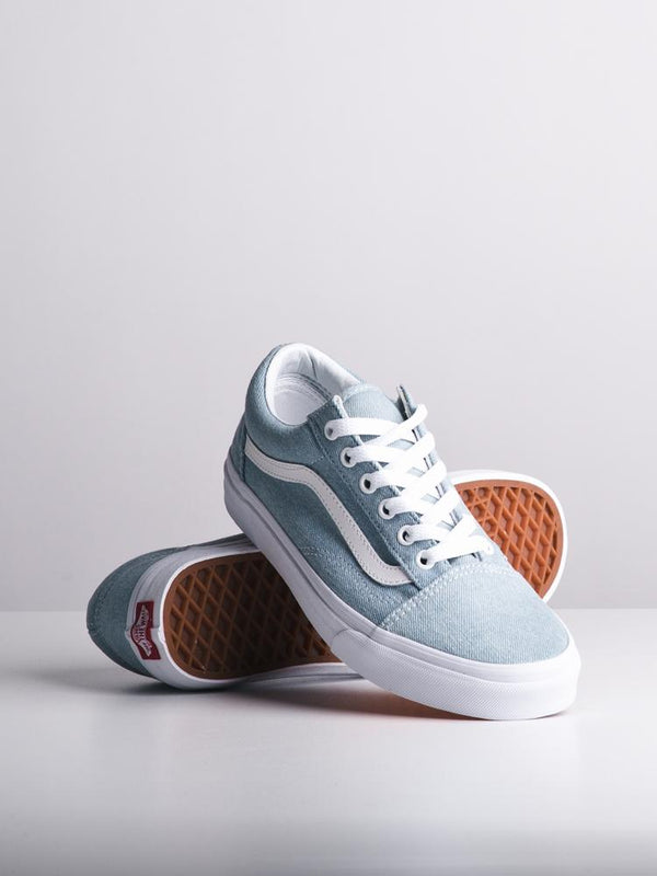 WOMENS OLD SKOOL DENIM BABY BLUE CANVAS SHOES- CLEARANCE
