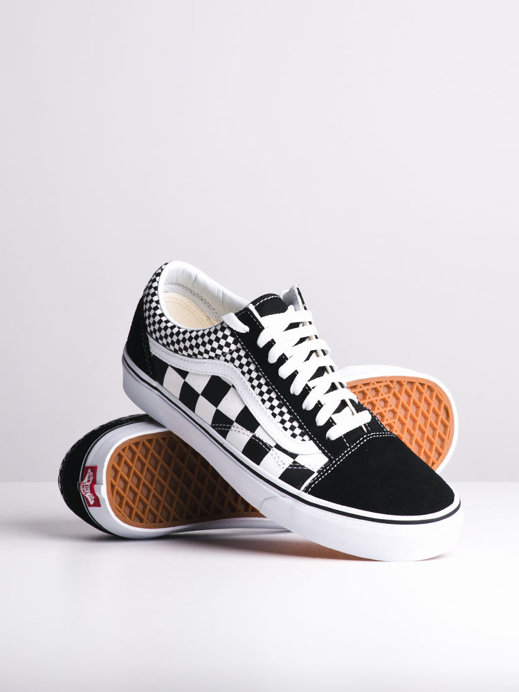 WOMENS OLD SKOOL MIXED CHECK CANVAS SHOES