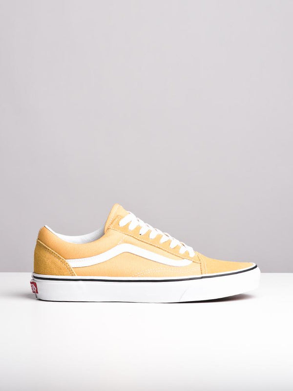 MENS OLD SKOOL OCHRE/WHITE CANVAS SHOES- CLEARANCE