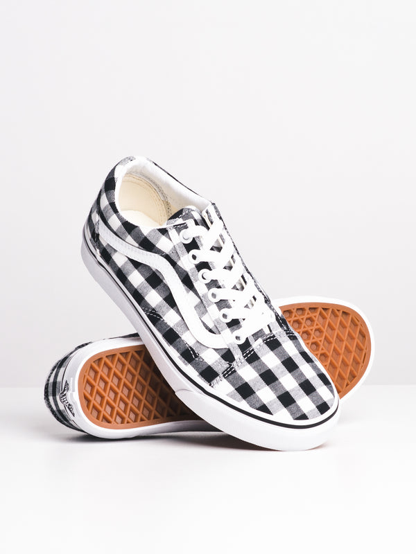 WOMENS OLD SKOOL GINGHAM - BLK/WHT