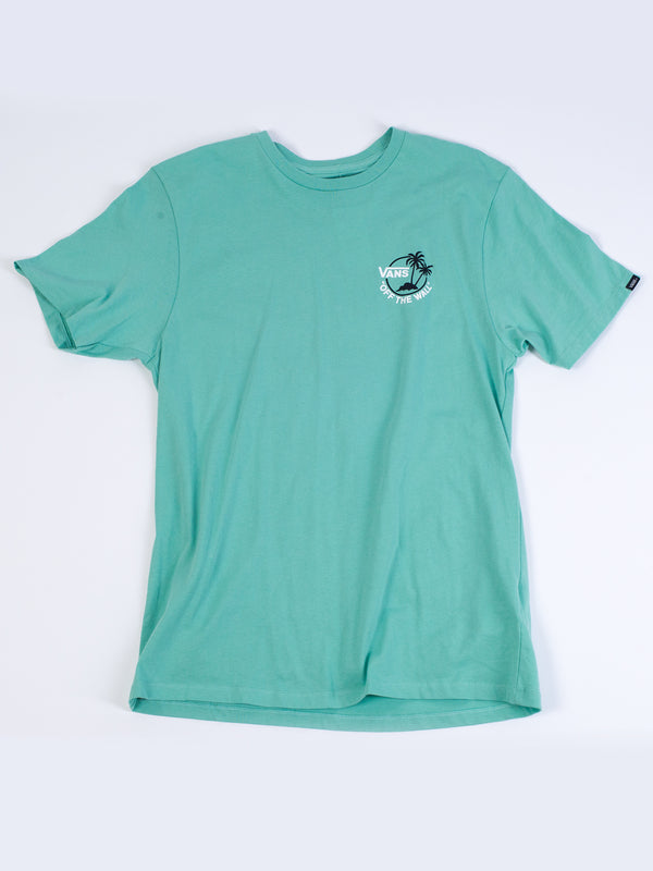MENS MINI DUAL PALM III SHORT SLEEVE T-JADE