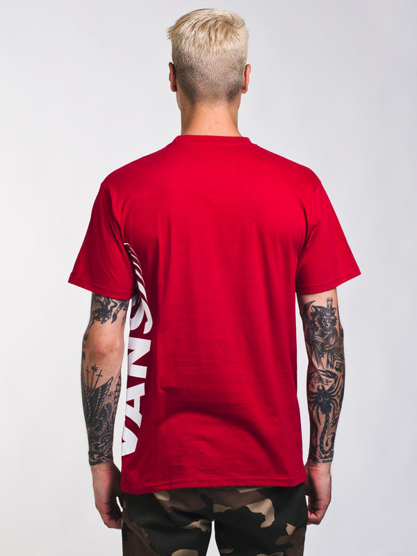 MENS VANS DISTORTED SHORT SLEEVE T-SHIRT - RED