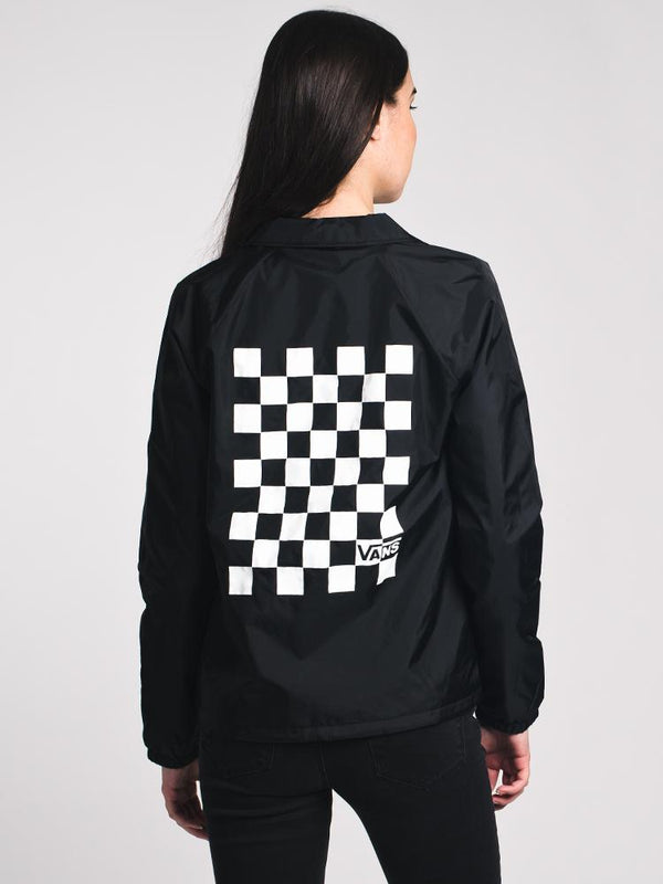 WOMENS THANKS COACH CHECK BOX JACKET