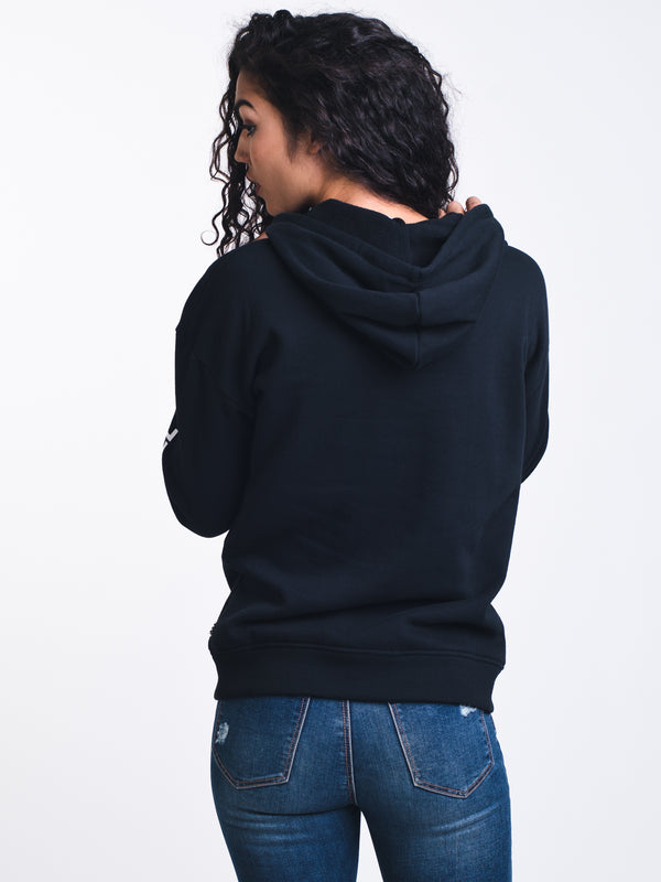 WOMENS TOO MUCH FUN HOODIE - BLACK