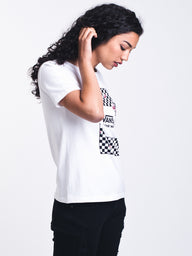 WOMENS BOXED ROSE CHECKS S/S TEE