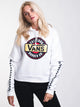 WOMENS CHROMO TWOFER HOODIE - WHITE
