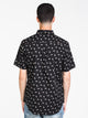 MENS ALL OVER PRINT DISTORTED PERF SHORT SLEEVET-SHIRT- B/W
