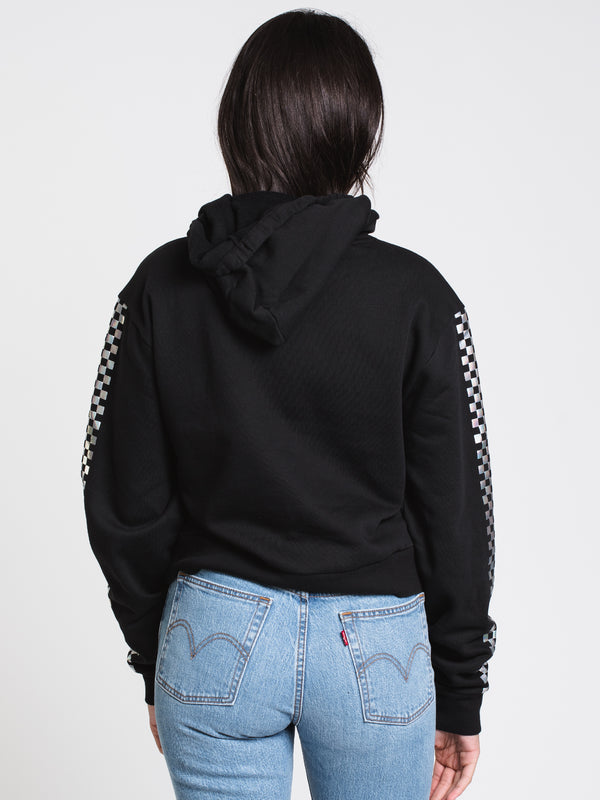 WOMENS SHINE IT CROP PULLOVER HOODIE - BLK
