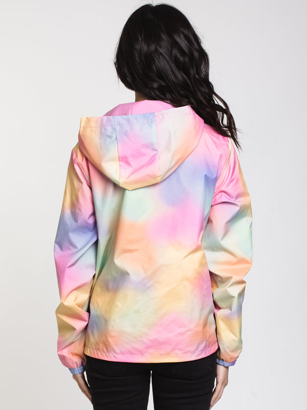 WOMENS REV OUT COACHED JACKET - TIE DYE