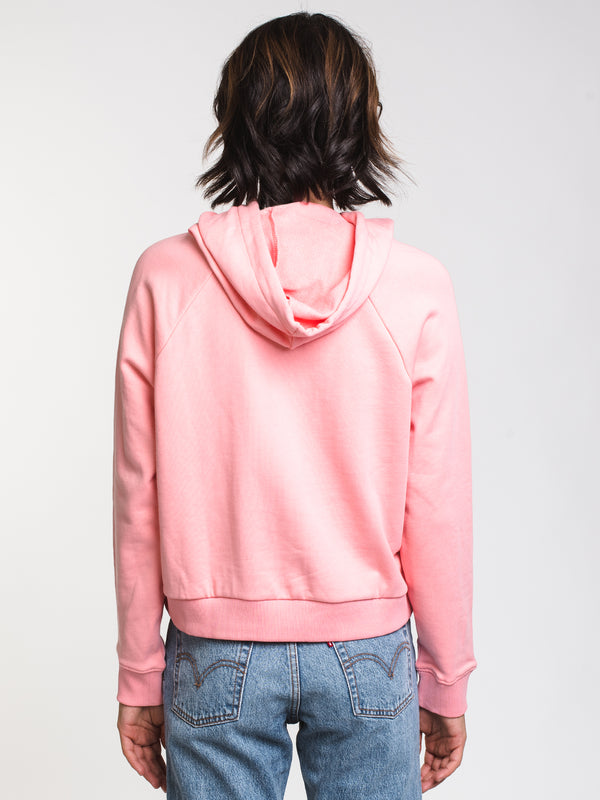 WOMENS FLYING PULLOVER HOOD - PINK ICING