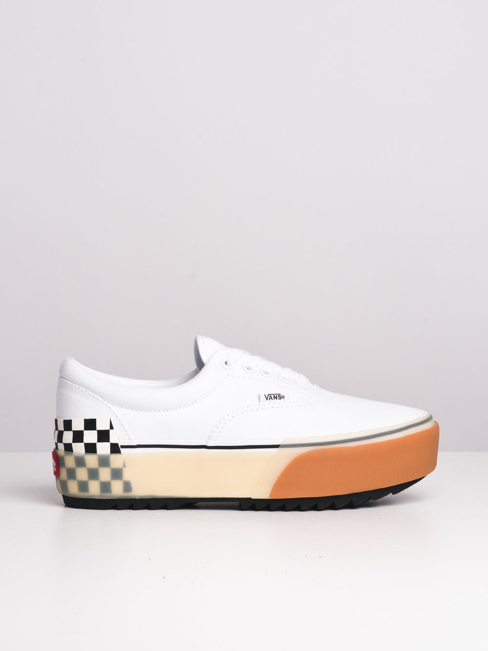 WOMENS ERA STACKED - WHITE CHECKER