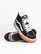 WOMENS SK8 HI STACKED - BLACK CHECKER