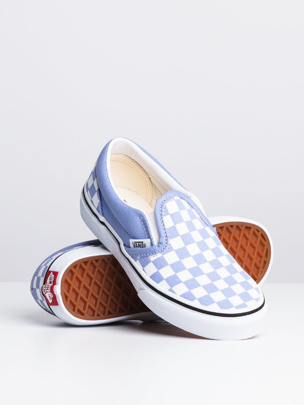 KIDS CLASSIC SLIP ON - CHECKER IRIS