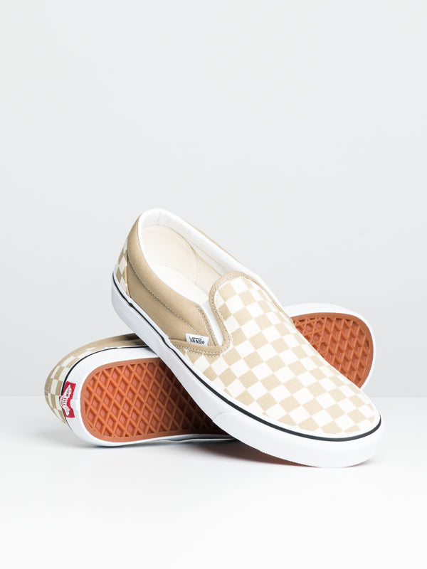 MENS CLASSIC SLIP ON - CHECKER/CORNSTK