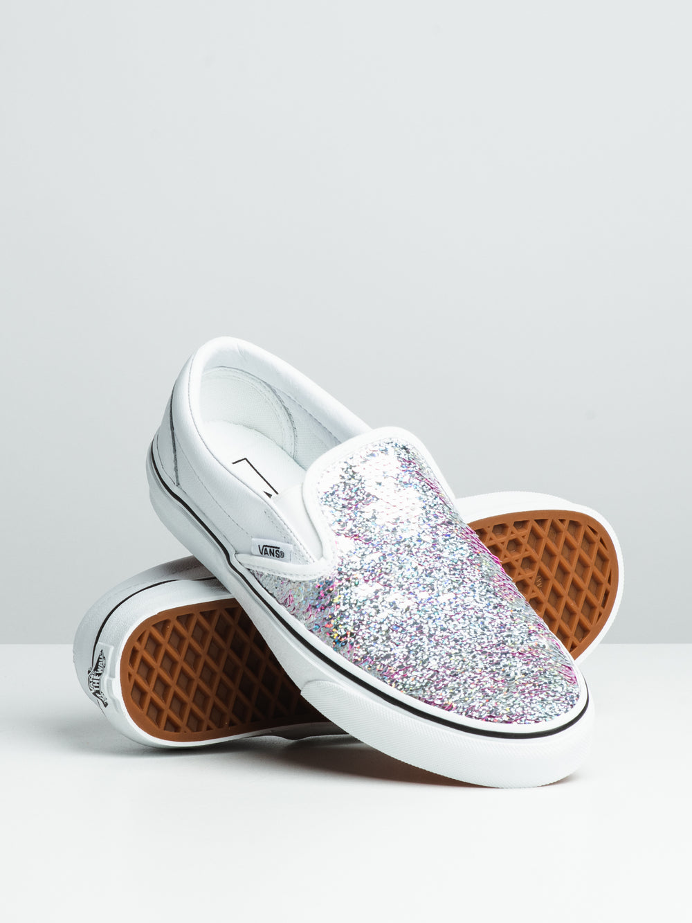 WOMENS CL SLIP ON - FLIPPING SEQUINS