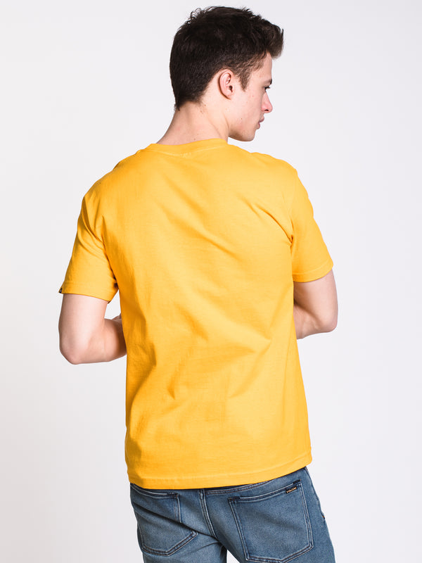 MENS CHECKWORK SHORT SLEEVE T-SHIRT - GOLD
