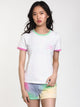 WOMENS RALLY BELL SHORT SLEEVE TEE - WHT/GRN