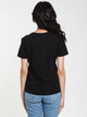 WOMENS GRAPHIC SHORT SLEEVE CREW TEE - BLACK