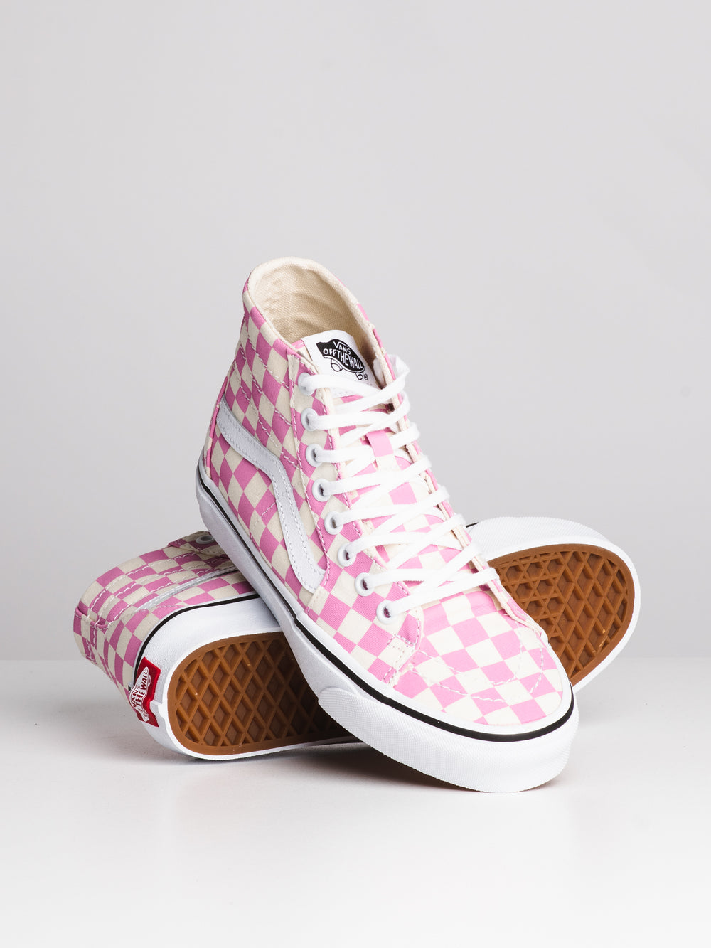 WOMENS SK8 HI TAPERED - CHECKER FUS