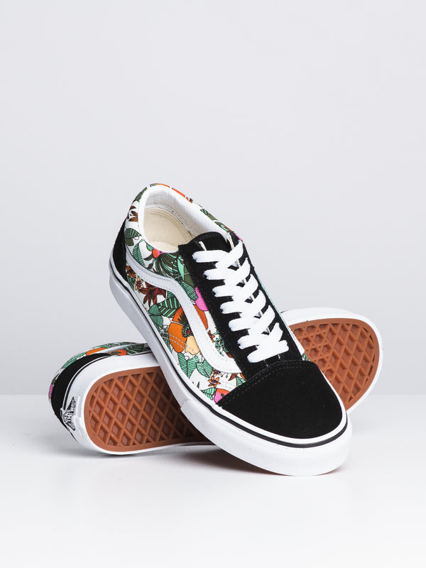 WOMENS OLD SKOOL - TROPIC BLACK
