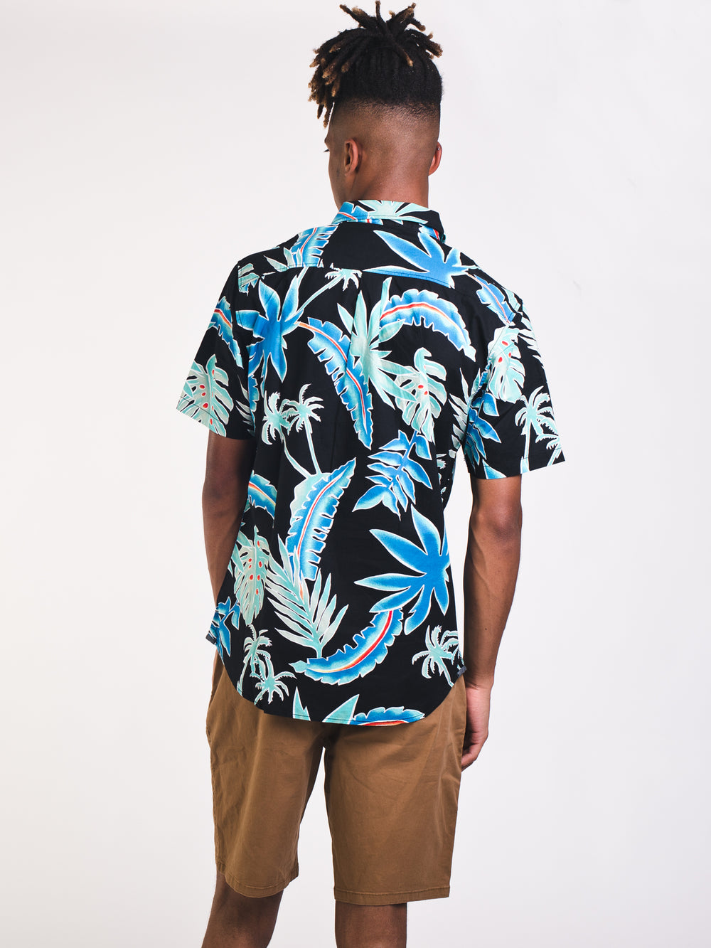 MENS PIT STOP SHORT SLEEVE FLORAL WOVEN- CLEARANCE