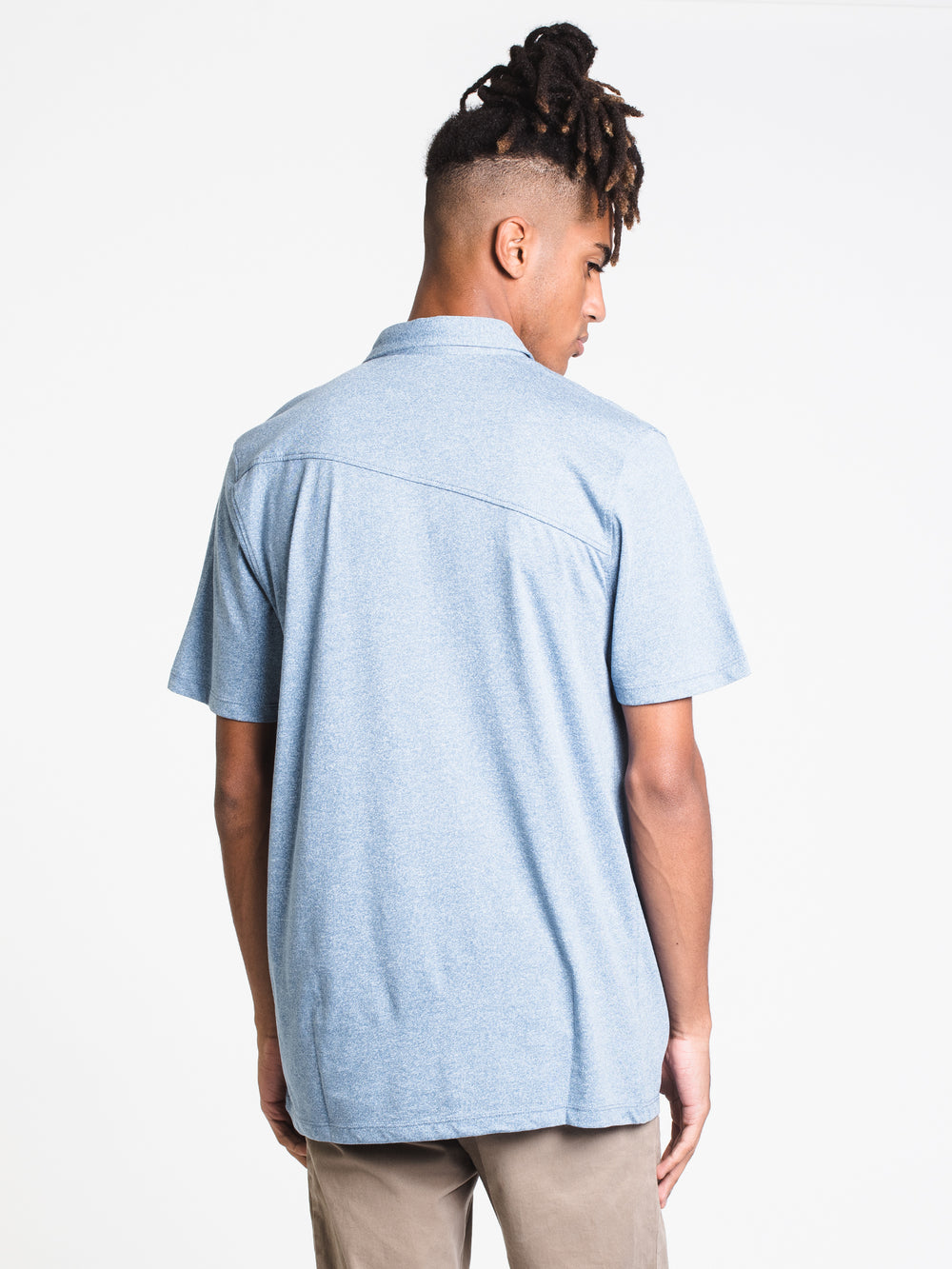 MENS WOWZER S/S POLO - BLUE RINSE
