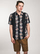 MENS PALM GLITCH SHORT SLEEVE WOVEN - BLACK- CLEARANCE