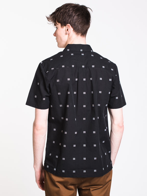 MENS MORTY SHORT SLEEVE Woven - BLK