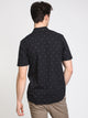 MENS MARK MIX SHORT SLEEVE WVN - BLACK