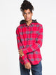 MENS CADEN HOODED FLANNEL - RED