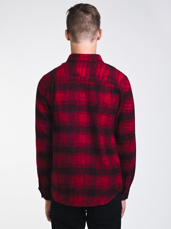 MENS BUFFALO GLITCH LONG SLEEVE - RED