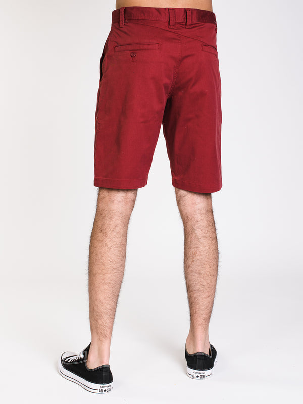 MENS FRICKIN CHINO SHORT - BURG