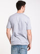 MENS CRISP EURO SHORT SLEEVE T-SHIRT - HTHR GREY