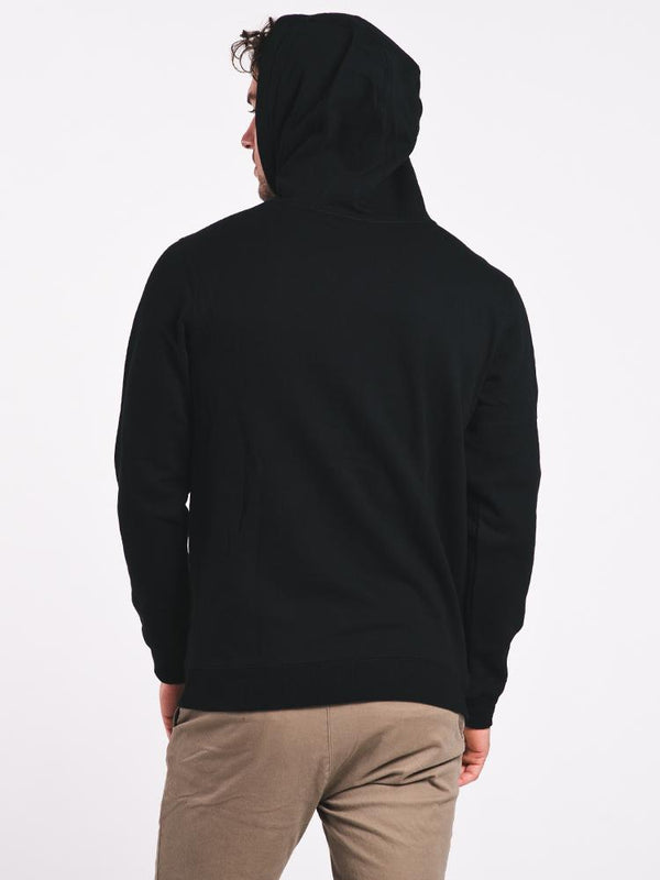 MENS STEELED PULLOVER HOODIE - BLACK- CLEARANCE