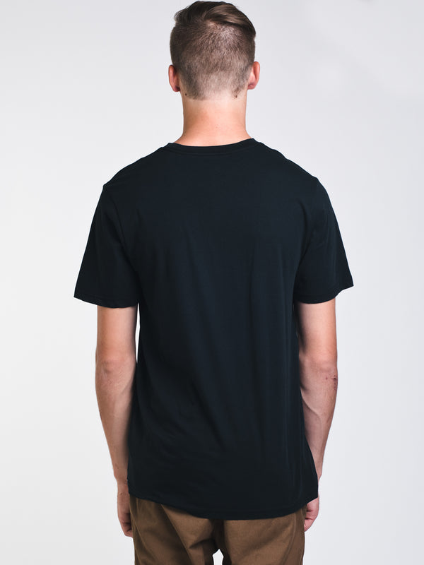 MENS CLASSIC STONE SHORT SLEEVE T-SHIRT - BLACK