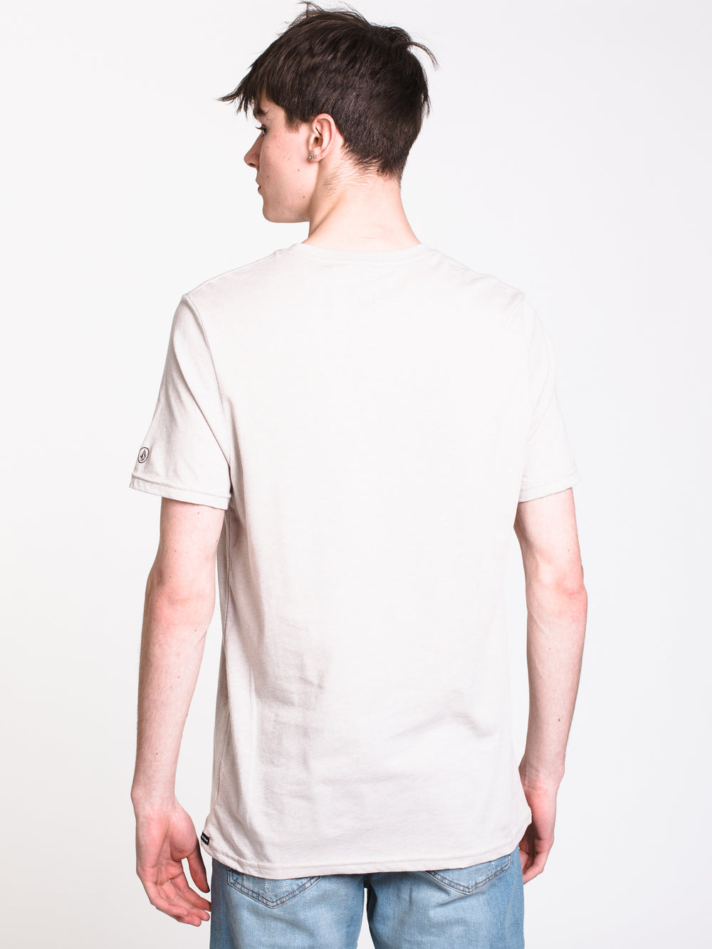 MENS HEATHER SOLID SHORT SLEEVE T-SHIRT - OATMEAL