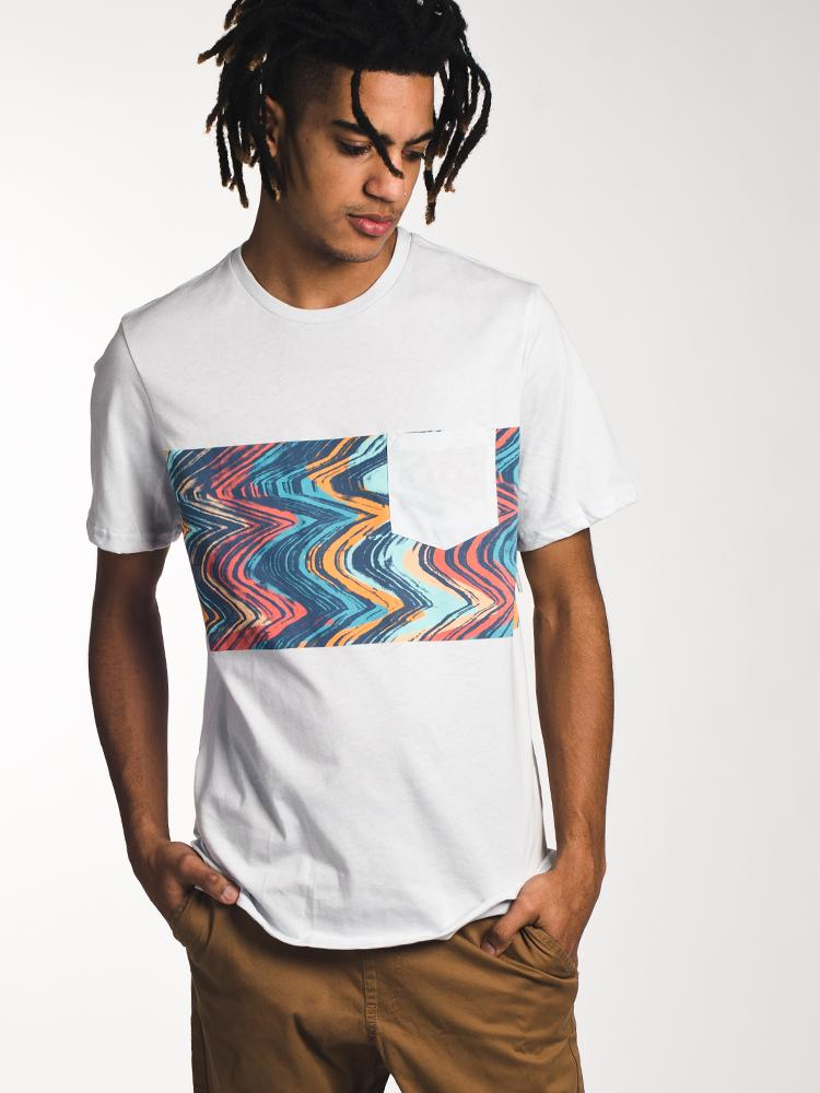 MENS LO FI SHORT SLEEVE T-SHIRT - WHITE- CLEARANCE