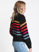 WOMENS MOVE ON UP SWEATER - BLACK